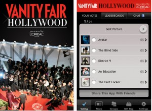 Vanity fair1 300x220 2010 Oscars Go Hi Tech from Social Media to Swag Bags