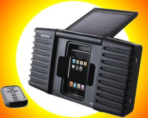 solarspeaker1 300x239 Just Say No to Batteries with the Solar Powered iPod Speaker