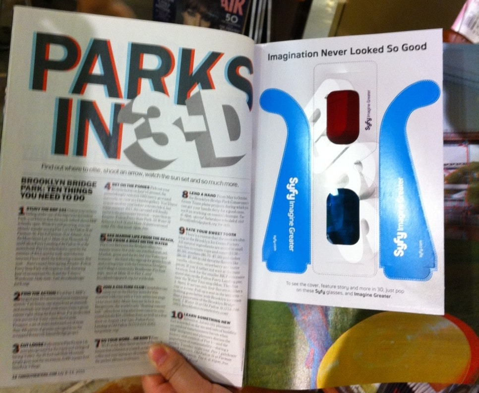 Time Out New York Mag Publishes Latest Issue in 3D