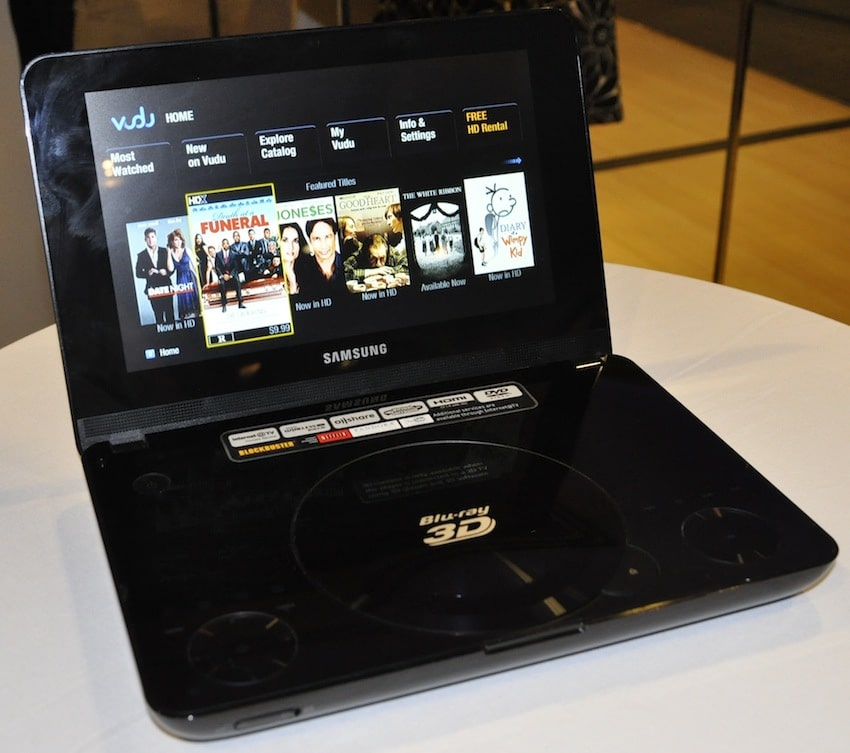 Samsung Announces World's First Portable 3D Blu-ray Player