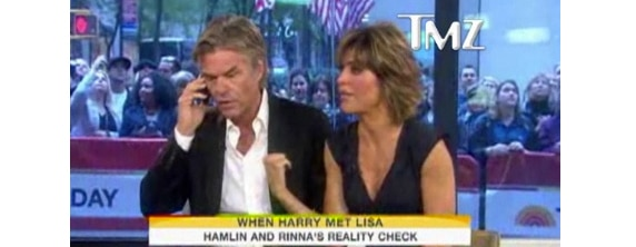 harryhamlin Harry Hamlin and Lisa Rinna Get All L.A. Law on ADT When Store is Broken into