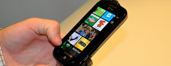 windowsphone Hands on Photos of Windows Phone 7   HTC Surround, Samsung Focus and More