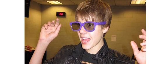 Bieber 3d Justin Bieber Purple 3D Glasses Make You Scream Baby, Baby