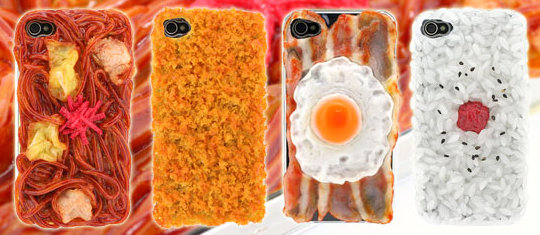 iphone 4 ifan japanese food cover 2 Sushi, Noodles & Shrimp iPhone 4 Cases Look Good Enough to Eat