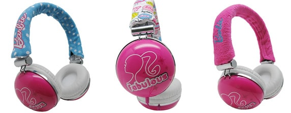 barbie Headphones Barbie Headphones Come With Three Headband Covers for Pink Overload