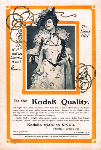kodak girl 341x508 How Marketing Tech Towards Women Hasnt Changed Much in 100 Years