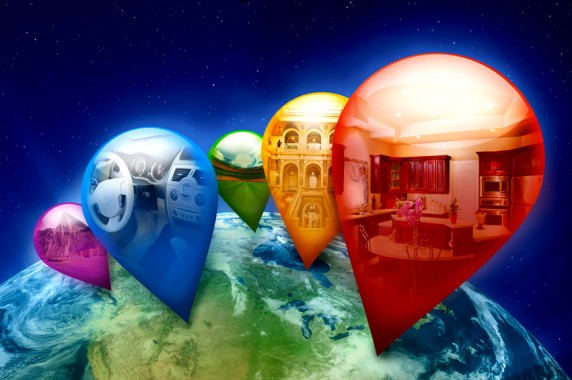 TourWrist Illustration Globe Pins 572x380 TourWrist iPhone App Gives Free 360 Tours of Whatever