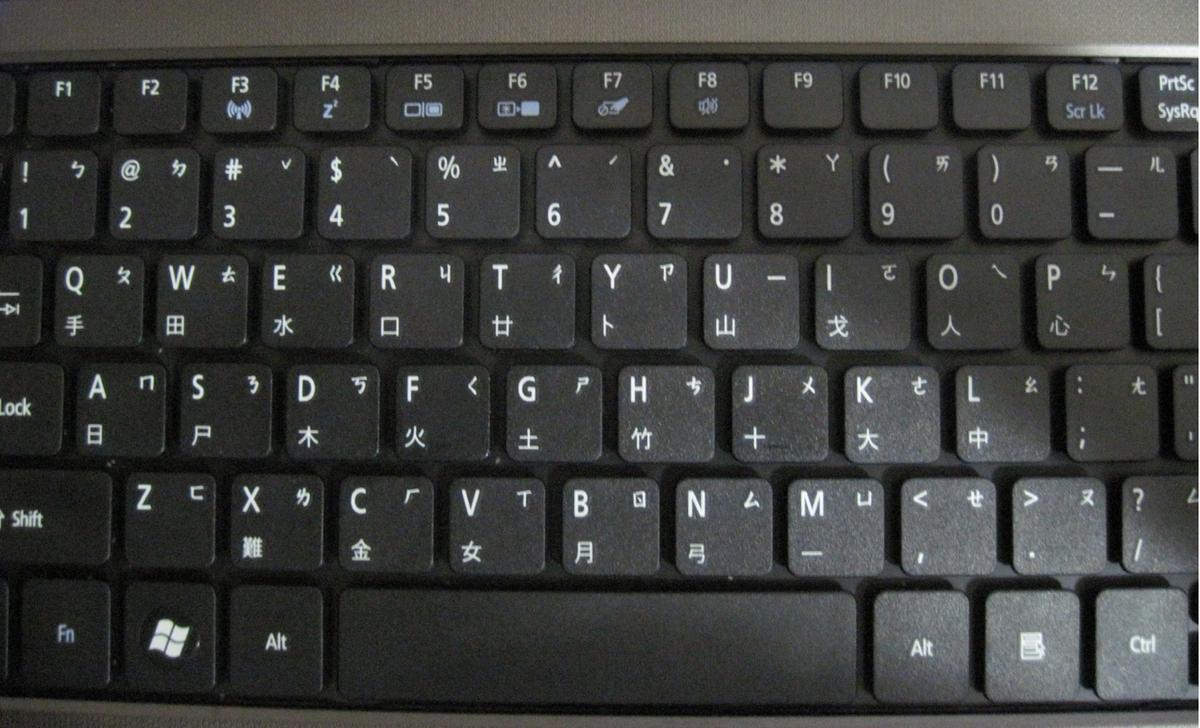 QWERTY Keyboard With Zhuyin and Cangjie