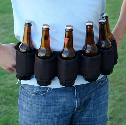 beer belt 510x508 Six Pack Beer Belt Holster is Better than Any Tool Belt