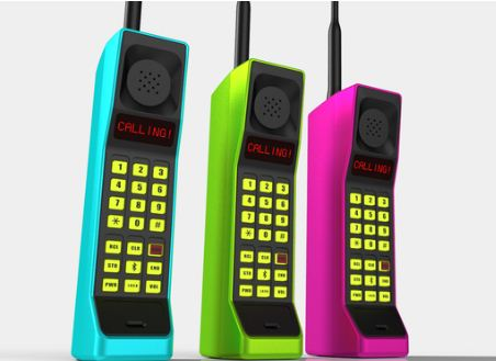 phones 80s Retro Brick Bluetooth Handset For the Zack Morris in All of Us