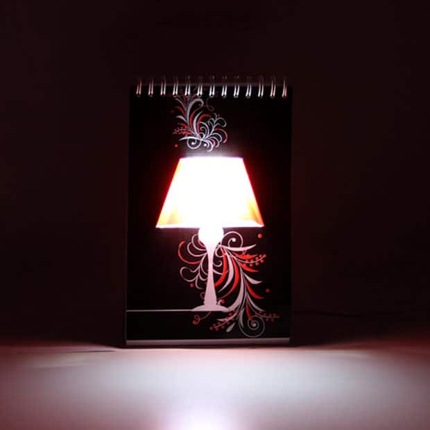 Page Turner Lamp is One Confused Notebook