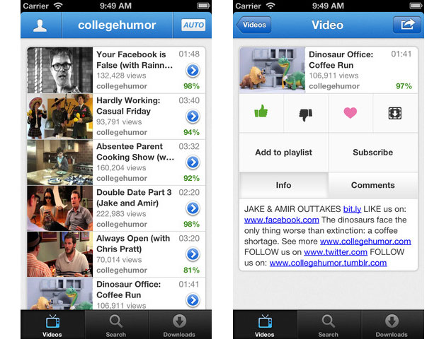tube iPhone App of the Week: Tube+ Picks Up the Slack for the Vanished YouTube iOS App