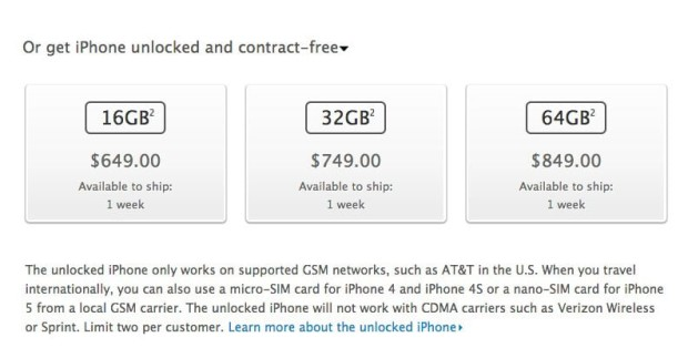 unlocked 620x314 Unlocked iPhone 5's Finally for Sale in the U.S. YAWN!
