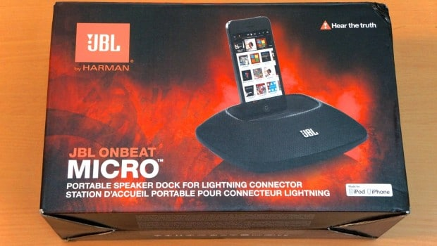 DSC01245 620x350 JBL OnBeat Micro Lightning Speaker and Dock for iPhone 5 Review