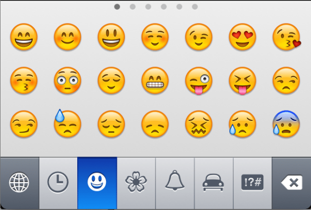 emoji keyboard 620x420 Merry Christmas! The First Text Message Turns 20 Today