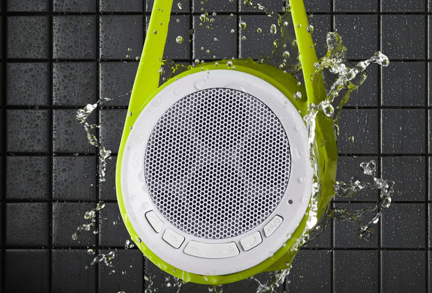 bf4080 showerlifestyle hi 1024x1024 Slingshot Water Resistant Speaker Turns Shower Time Into Party Time