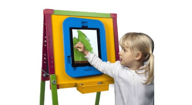 easel child 620x342 CTA Digital Kids Drawing Easel for iPad is Perfect for Messy Kids
