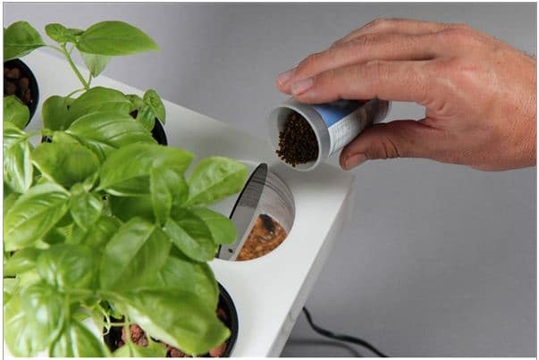 Aquarium food AquaFarm is an All in One Planter and Aquarium