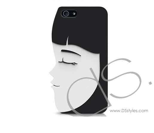lady Love is in the Air with Kissing iPhone 5 Cases