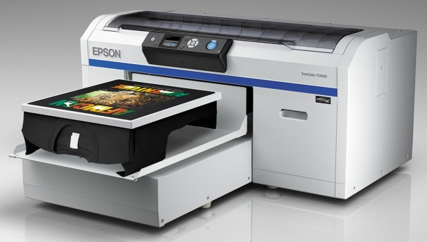 SureColor F2000 Left Angle Black Shirt 620x351 Open Your Own T Shirt Store with Epsons SureColor F2000 Printer