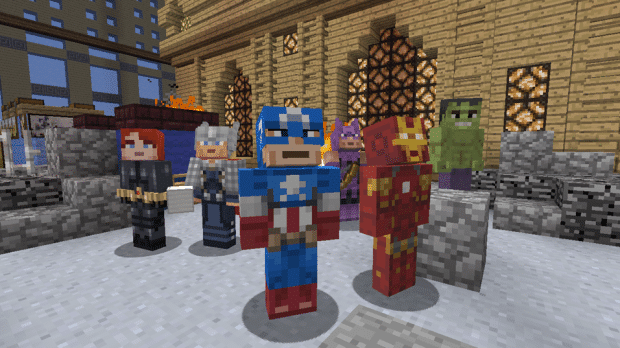 MarvelHeroesScreenshot 620x348 Minecraft: The Avengers Skin Pack Lands on Xbox 360
