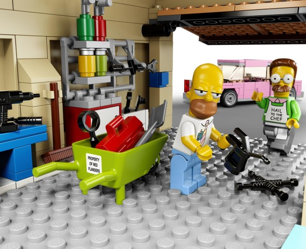 HighRes Simpsons D2C Garage 620x504 The Simpsons LEGO Set is Pretty Much Irresistible