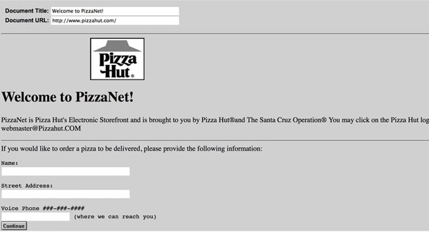 pizzahut1 20 Years Ago, Pizza Hut Sold Its First Pizza Online
